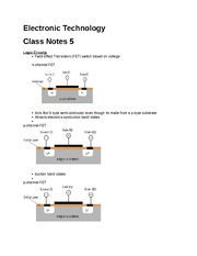 Electronic Technology notes 5