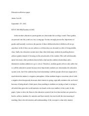 Educational Reflection Paper