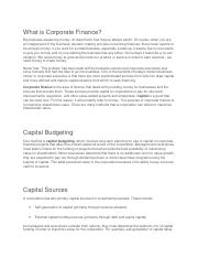 What is Corporate Finance.docx