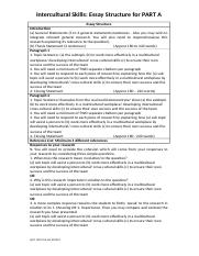 Essay Structure - Intercultural Skills Part A (1).docx