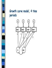 Growth curve model for reading, 4 time
