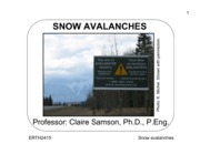 ERTH 2415 - Lecture 13 - Snow Avalanches