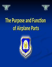 Purpose and Function of Airplane Parts S_F_C1L3_PPT
