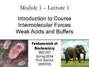 Module-1, Lecture-1 Intermolecular Forces, Buffers