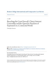 Breaching the Great Firewall- China-s Internet Censorship and the