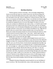 Florida black history month essay