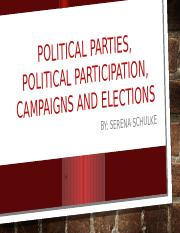 Political Parties, Political Participation, Campaigns and Elections.pptx