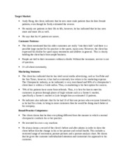 Google Drive Document for Marketing Plan Paper
