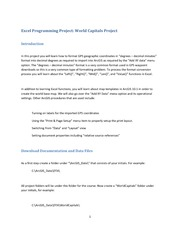 Excel Programming Project