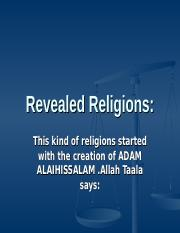 isl. lecture#2 revealed religions