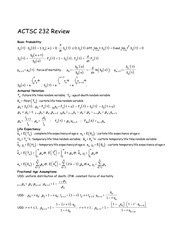ACTSC 232 Review