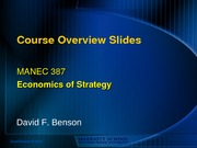 1 - Course Overview - Benson