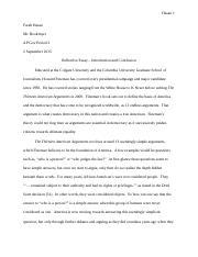 reflective essay third parties farah hasan mr bookmyer ap gov 4 pages reflective essay conclusion introduction
