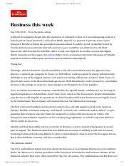 Business this week  9-10-2016