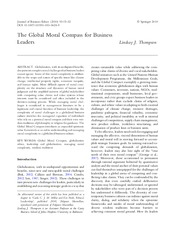 The Global Moral Compass for Business Leaders