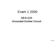 L14 Part 2 Exam1 Sp 2000 Grounded Emitter_1