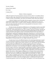 Poli Sci- Module 9 Written Assignment