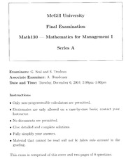 Final Exam Questions Sample 4
