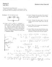 PHYS 21 Fall 2013 Midterm 2 Solutions