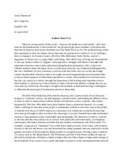Essay 2-Fathers Don't Cry