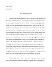 Ways of Seeing Free Writing