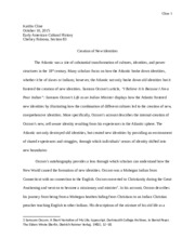 KCline Early American Cultural History Paper 2.docx