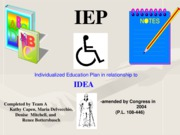 The IEP (Individualized Educational Plan)