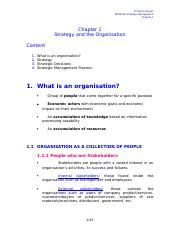 Ch 01 Strategy & the Organisation