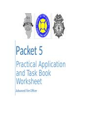 Adv FO - Practical Application and Task Book Worksheet