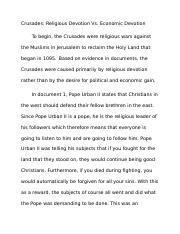 crusades essay conclusion