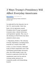 Source #3 - FORBES (3 Ways Trump_s Presidency Will Affect Everyday Americans).docx
