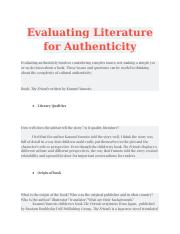 Evaluating_Literature_for_Authenticity