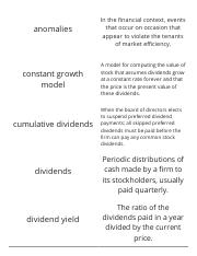 Finance-Chapter 8-Stock Valuation and Market-Vocabulary Flashcards