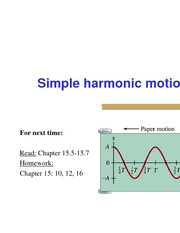 27 - Simple Harmonic Oscillation