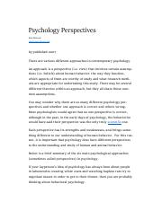 psych perspectives