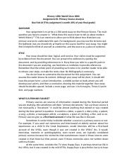 Primary Document assignment handout
