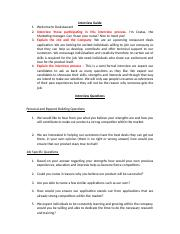 BSBMGT402 - Task 2 - Interview Questions.doc