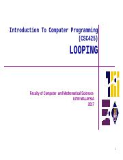 Chapter 4 - Looping.pptx