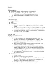 Class notes- Security