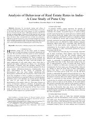 Analysis-of-Behaviour-of-Real-Estate-Rates-in-India--A-Case-Study-of-Pune-City