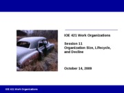 Session 11 - Org Size Lifecycle Decline Fall 2009