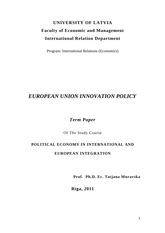 INTLBU Innovation Policy Project