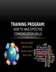 TRAINING PROGRAM2