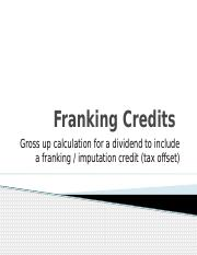 Franking Credit Gross Up (1)