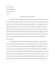 Mass Incarceration Research Paper
