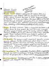 Notes, Oliver Twist Characters