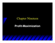 Varian_Chapter19_Profit_Maximization