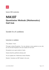 MATHS 107 : MA - LSE - Course Hero