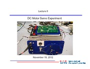 Lecture 8-Control systems -November 19 2012