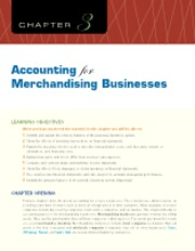 Chapter 3 Accounting for Merchandising Businesses